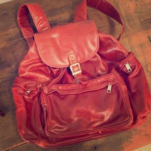 Vintage Wilson's Leather Red Backpack